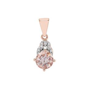 Zambezia Morganite Pendant with Diamond in 9K Rose Gold 1.13cts