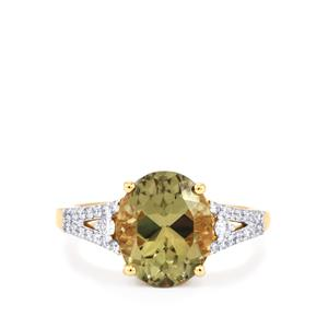 Csarite® Ring with Diamond in 18k Gold 4.83cts
