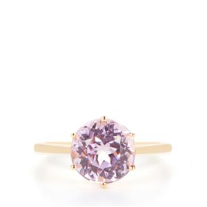 Kunzite Ring in 9K Gold 3.36cts
