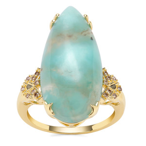 Aquaprase™ Ring with Champagne Diamond in 9K Gold 11.07cts