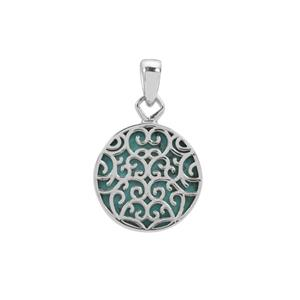 Turquoise Pendant in Sterling Silver 11cts