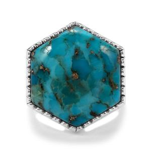 Bonita Blue Turquoise Ring in Sterling Silver 14.79cts