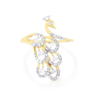 Diamond Ring in 9K Gold 0.50ct