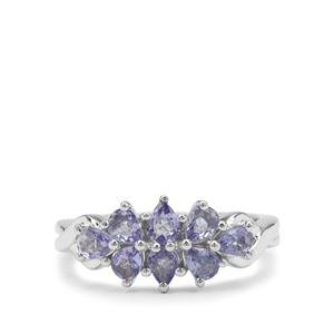 Tanzanite Ring in Sterling Silver 1.10cts