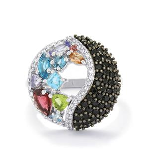 3.01ct Exotic Gems Sterling Silver Ring
