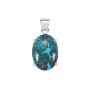 Shattuckite Pendant in Sterling Silver 17cts