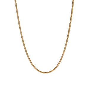 "18"" 9K Gold Tempo Round Snake Chain 4.50g"