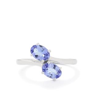 1.44ct AA Tanzanite 10K White Gold Ring