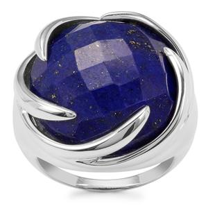 23.32ct Sar-i-Sang Lapis Lazuli Sterling Silver Sarah Bennett Cocktail Classics Ring