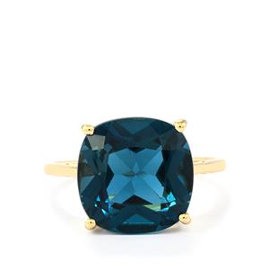 Marambaia London Blue Topaz Ring in 10K Gold 8.74cts