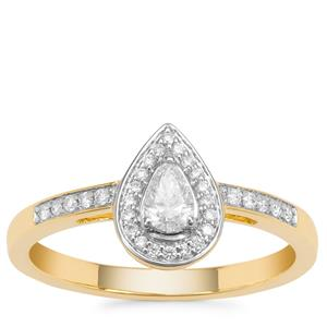 Diamond Ring in 18K Gold 0.33cts