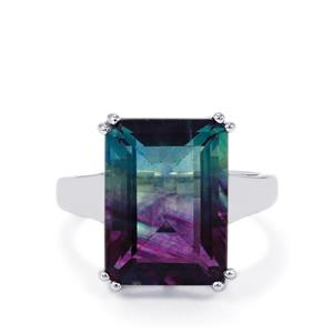 12.25ct Zebra Fluorite Sterling Silver Ring