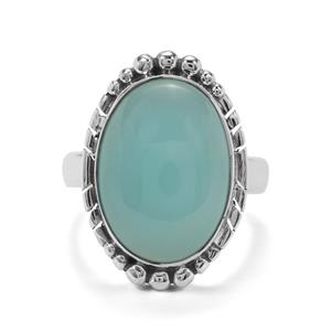 11ct Imperial Aqua Chalcedony Sterling Silver Aryonna Ring