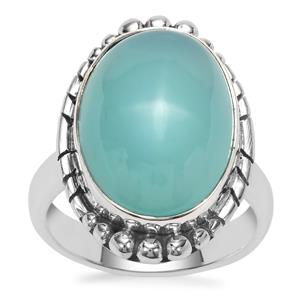 Imperial Aqua Chalcedony Ring in Sterling Silver 11cts