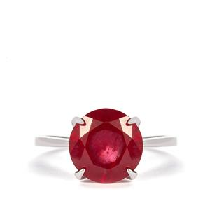 Thai Ruby Ring in Sterling Silver 5.75cts (F)