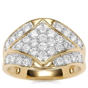 Canadian Diamond Ring in 18K Gold 1ct