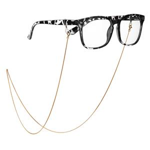 """30"""" Gold Tone Sterling Silver Glasses Chain 3.24g"""