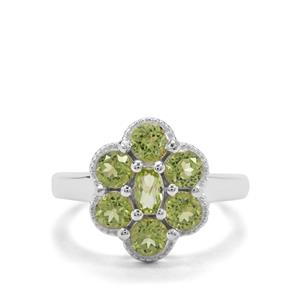 1.95ct Red Dragon Peridot Sterling Silver Ring