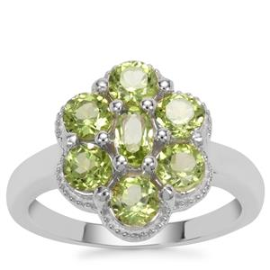 Red Dragon Peridot Ring with Sterling Silver 1.95cts