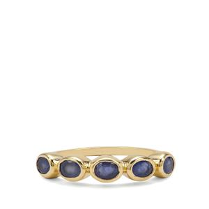 Burmese Blue Sapphire Ring  in 9K Gold 1.12cts