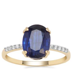 Nilamani Ring with White Zircon in 9K Gold 3.89cts