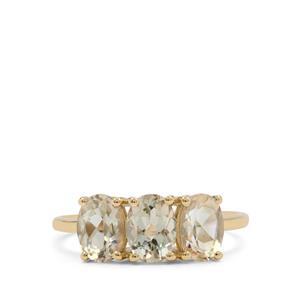 Teal Oregon Sunstone Ring in 9K Gold 2.20cts