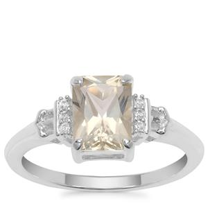 Serenite Ring with White Zircon in Sterling Silver 1.45cts