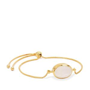 Rainbow Moonstone Slider Bracelet in Gold Plated Sterling Silver 5cts
