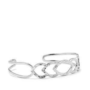 Diamond Cut Cuff in Sterling Silver