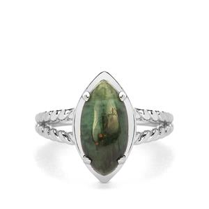Minas Velha Emerald Ring in Sterling Silver 3.37cts