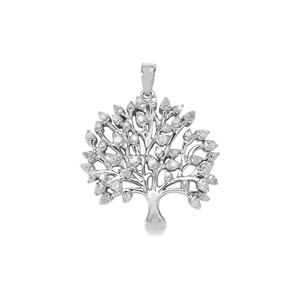 Diamond Tree of Life Pendant in Sterling Silver 0.50ct
