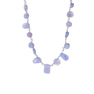 95.25ct Blue Lace Agate Sterling Silver Necklace