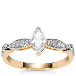 Fancy Diamond Ring in 18K Gold 0.57ct