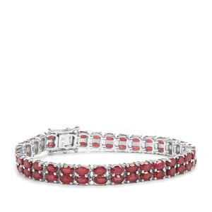 Malagasy Ruby Bracelet in Sterling Silver 25.06cts (F)
