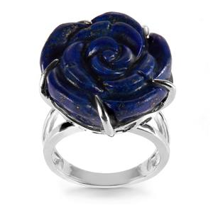 Lapis Lazuli Ring in Sterling Silver 39.74cts