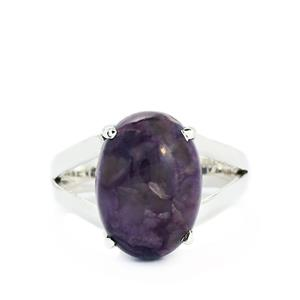 5.62ct Charoite Sterling Silver Aryonna Ring