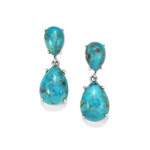 Bonita Blue Turquoise Earrings in Sterling Silver 14.43cts