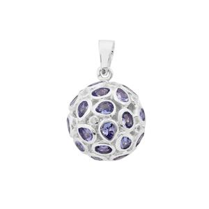 Tanzanite Pendant with White Zircon in Sterling Silver 5.30cts