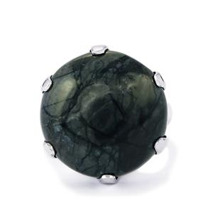 24ct Picasso Jasper Sterling Silver Ring
