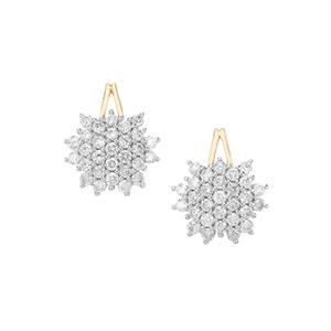 Argyle Diamond Earrings in 10K Gold 1ct