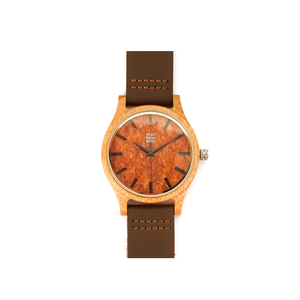 YouBamboo Watch with Leather Strap and Cork Face - Male