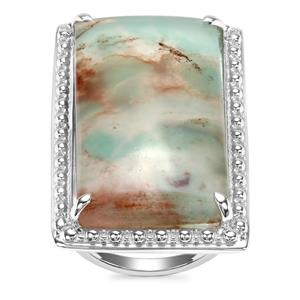 Aquaprase™ Ring in Sterling Silver 23.96cts