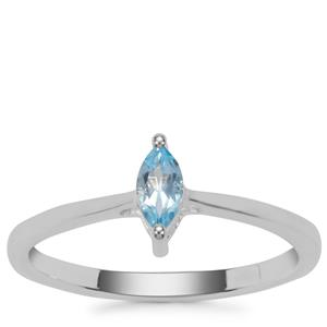 Swiss Blue Topaz Ring in Sterling Silver 0.47ct