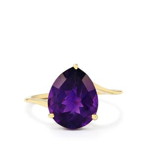 4.14ct Zambian Amethyst 10K Gold Ring