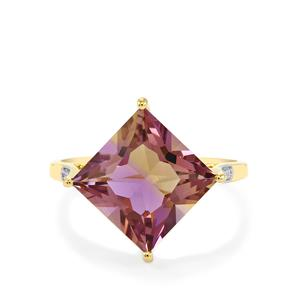Anahi Ametrine Ring with Diamond in 10k Gold 4.72cts