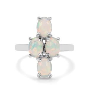 1.96ct Ethiopian Opal Sterling Silver Ring
