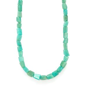 170ct Amazonite Sterling Silver Nugget Necklace
