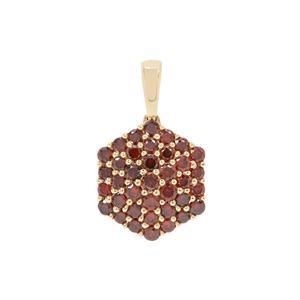 Red Diamond Pendant in 9K Gold 0.75ct