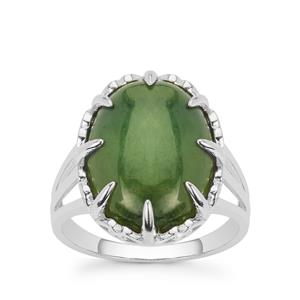Canadian Nephrite Jade Ring in Sterling Silver 9.25cts