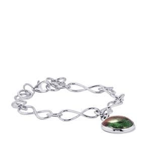 Ruby-Zoisite Bracelet in Sterling Silver 17.14cts